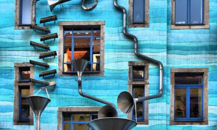 Στη «συνοικία των φοιτητών» στη Γερμανία, ένας τοίχος παίζει μουσική κάθε φορά που βρέχει