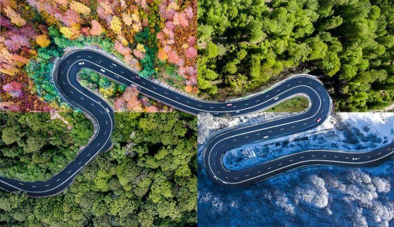 Οι δρόμοι της Τρανσυλβανίας έχουν άλλη ομορφιά αν τους κοιτάξεις από ψηλά!