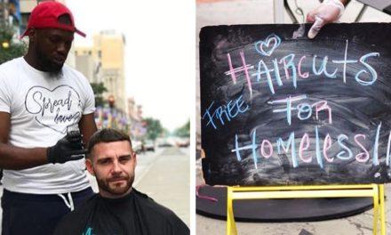 Άνδρας δώρισε ένα κατάστημα στον άγνωστο γι' αυτόν Brennon Jones, για να συνεχίζει να κουρεύει δωρεάν τους άστεγους