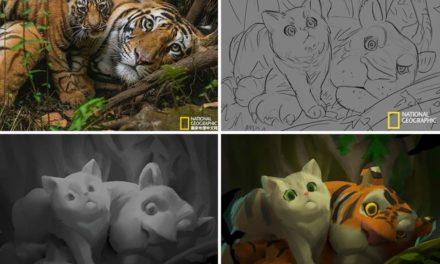 Διάσημες φωτογραφίες του National Geographic μετατρέπονται σε αξιολάτρευτες εικονογραφήσεις