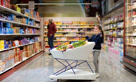 Καρότσι για ασφαλή ψώνια, φρενάρει μόνο του