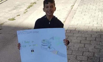 Δωδεκάχρονος Ιταλός διαδήλωσε μόνος του για το κλίμα στη μικρή του πόλη