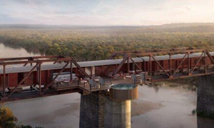 Ξενοδοχείο χτίζεται στις ράγες τρένου πάνω σε γέφυρα!