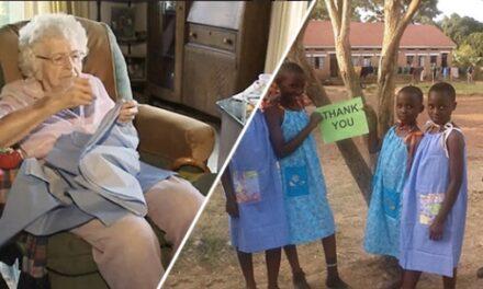 H Lillian Weber ράβει κάθε μέρα ένα φόρεμα για κάποιο φτωχό κορίτσι στην Αφρική