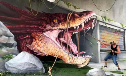 Γάλλος καλλιτέχνης ταξιδεύει και ζωντανεύει δρόμους με τρισδιάστατα γκράφιτι