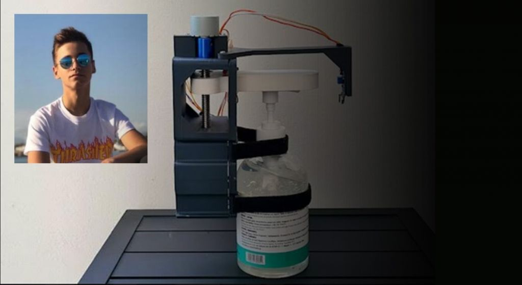 Διεθνής διάκριση για 14χρονο εφευρέτη που έκανε τα αντισηπτικά αυτόματα