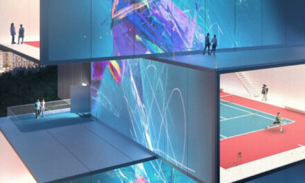 Playscraper: Ένας ουρανοξύστης για τένις -Με κορτ σε κάθε όροφο