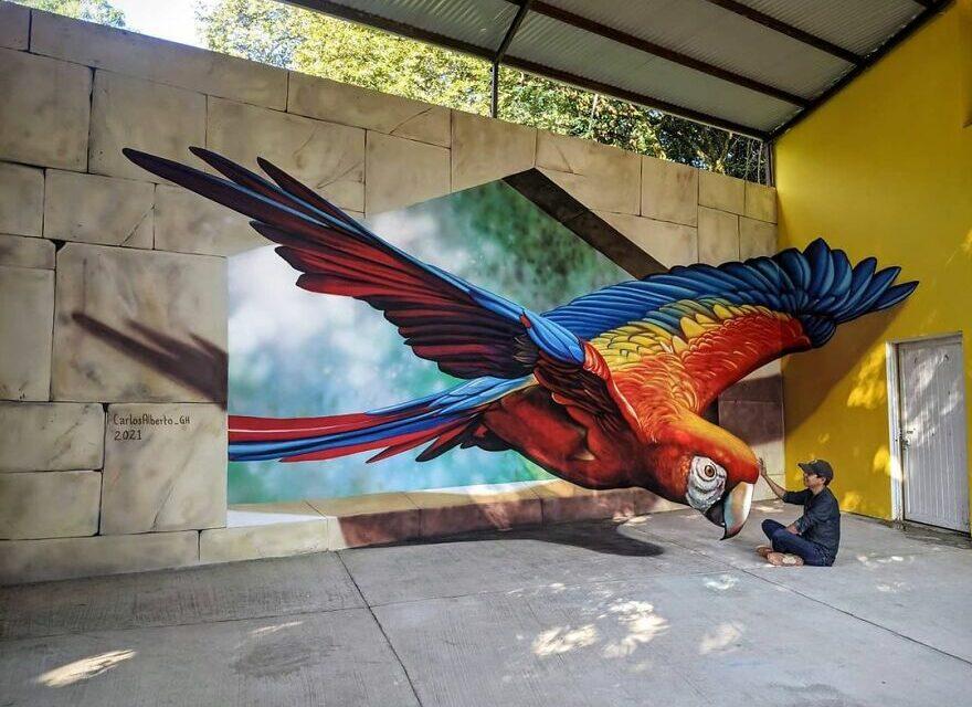 Οπτικές ψευδαισθήσεις δημιουργούν τρισδιάστατα έργα τέχνης στους δρόμους του Μεξικό
