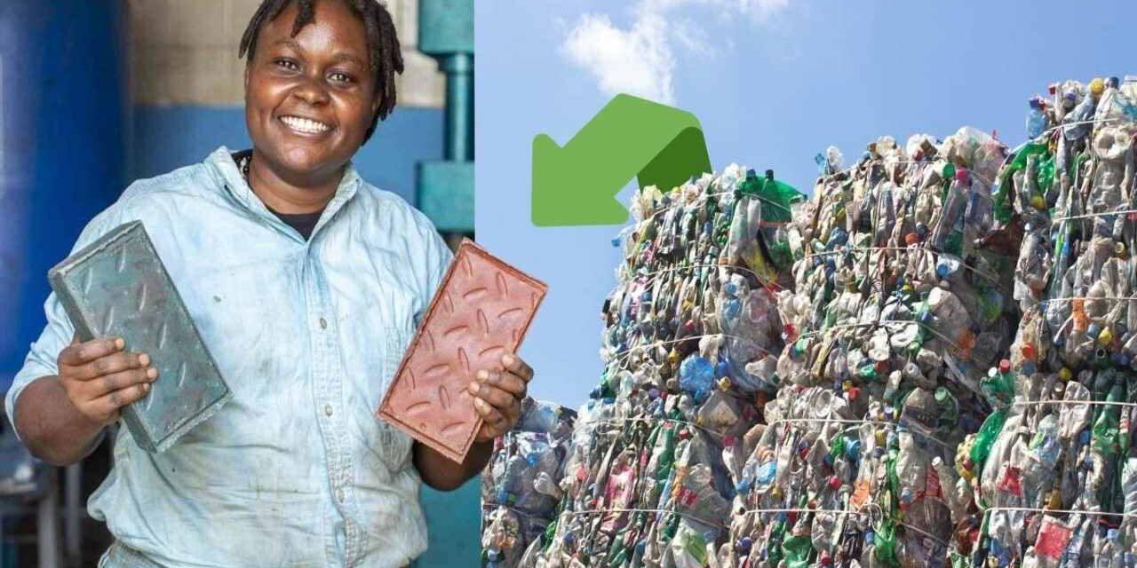 Nzambi Matee: Η επιχειρηματίας που μεταμορφώνει τα πλαστικά σκουπίδια σε τούβλα
