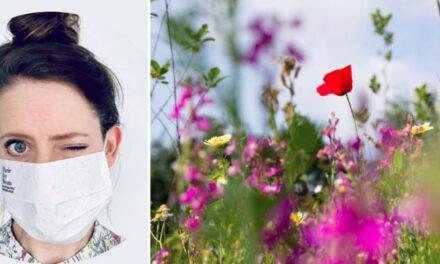 Marie Bee Bloom: Βιοδιασπώμενες μάσκες μετατρέπονται σε λουλούδια αφού θαφτούν