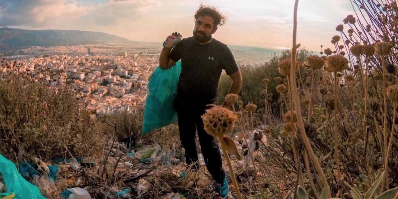 Βασίλης Σφακιανόπουλος: Περπατά 162 χλμ μαζεύοντας σκουπίδια